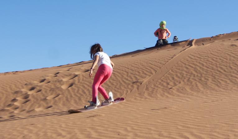 Sandboarding enfants