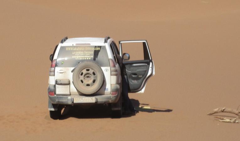 Conduite sur sable